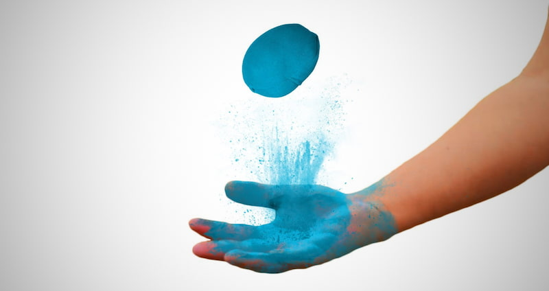 Refillable Color Powder Balls