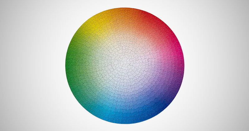 1000 Colors Round Color Wheel Jigsaw Puzzle