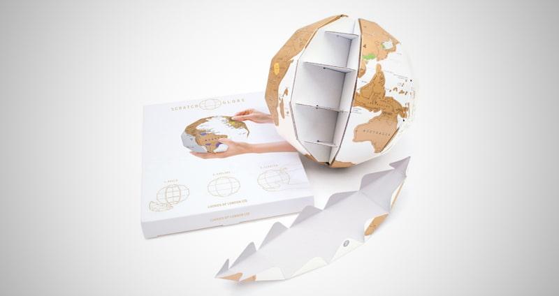 3D Globe Scratch Map