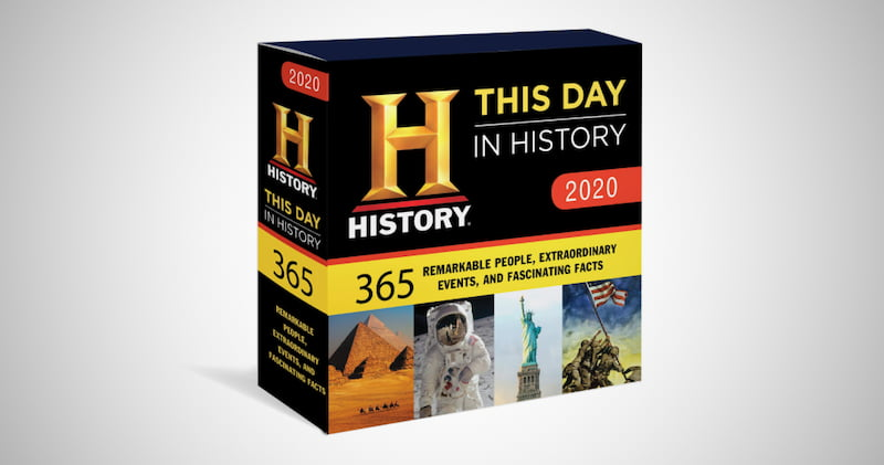 This Day in History Boxed Calendar