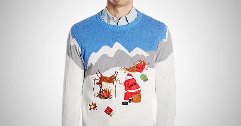 Men's Reindeer Ugly Christmas Sweater