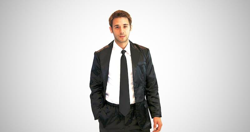 Silk Suit Mens Pajama