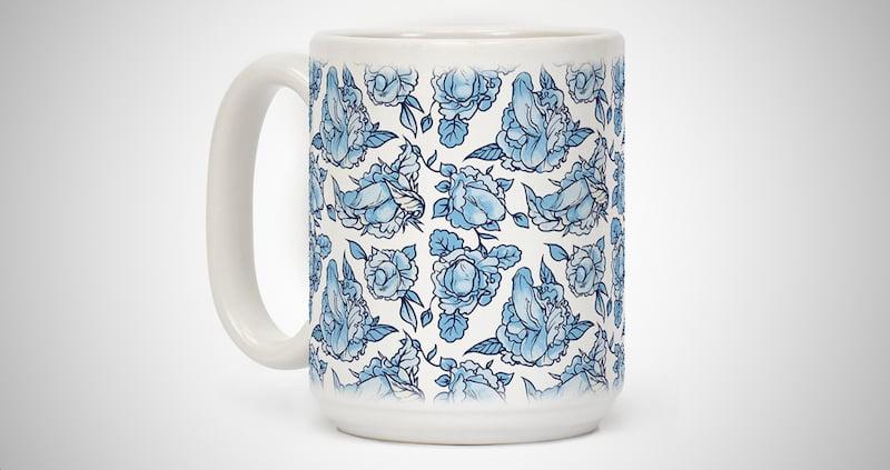Floral Penis Coffee Mug