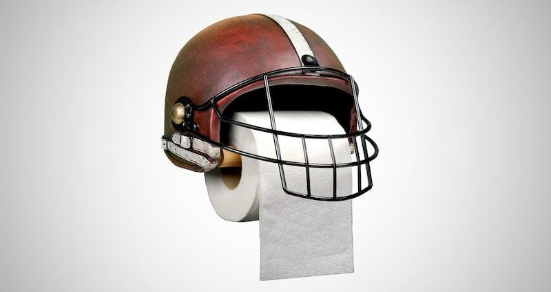 Football Helmet Toilet Paper Holder