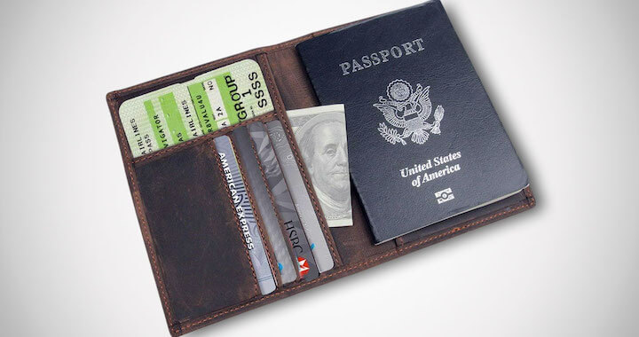 RFID-Blocking Leather Passport Holder