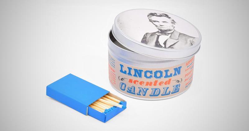 Abraham Lincoln Scented Candle