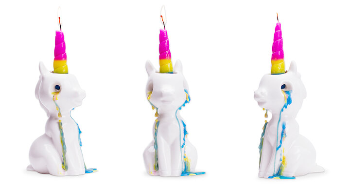 Crying Unicorn Candle Holder