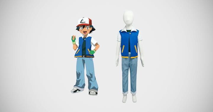 Pokemon Cosplay Costume for Adult Kids