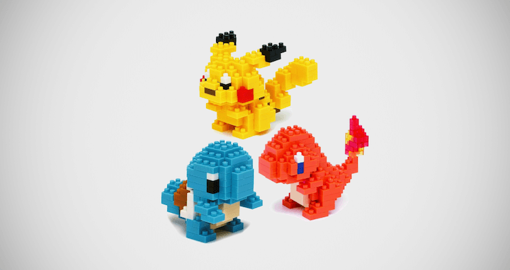 Pokemon Pikachu Building Blocks