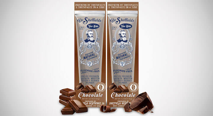 Dr. Sheffield's Natural Chocolate Toothpaste
