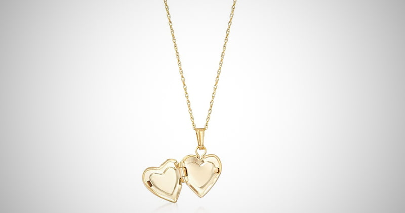 Ross-Simons 14kt Heart Locket Necklace