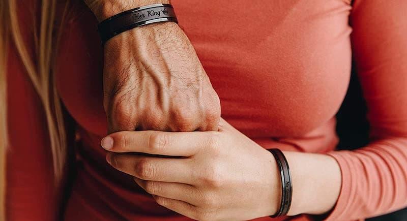 Personalized Matching Couples Cuff Bracelets