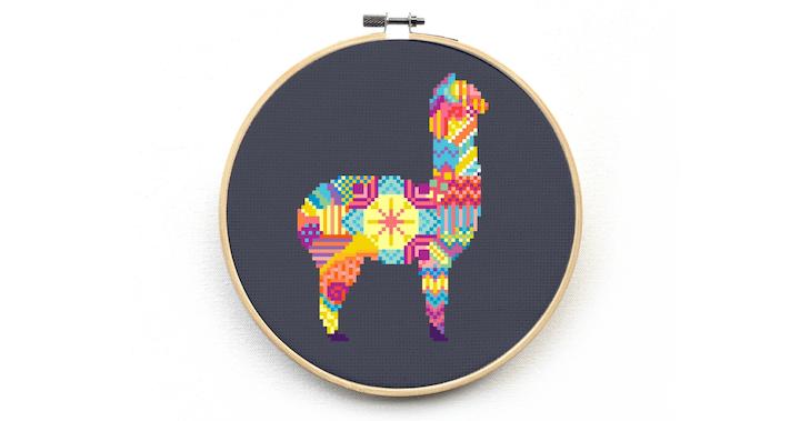 Cute Llama Cross Stitch Kit