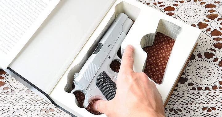 Concealed Gun Storage Book Safe
