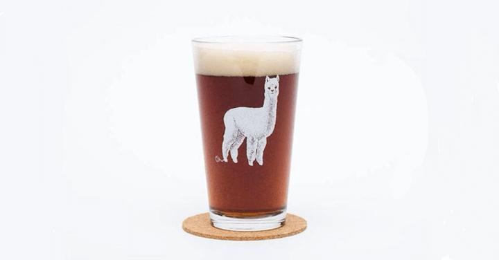 Llama Beer Glass