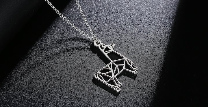 Rosa Vila Origami Llama Necklace