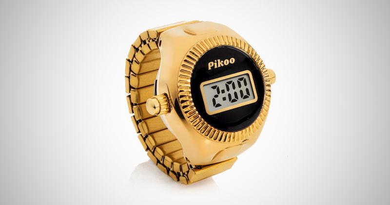 Pikoo Unisex Digital Ring Watch
