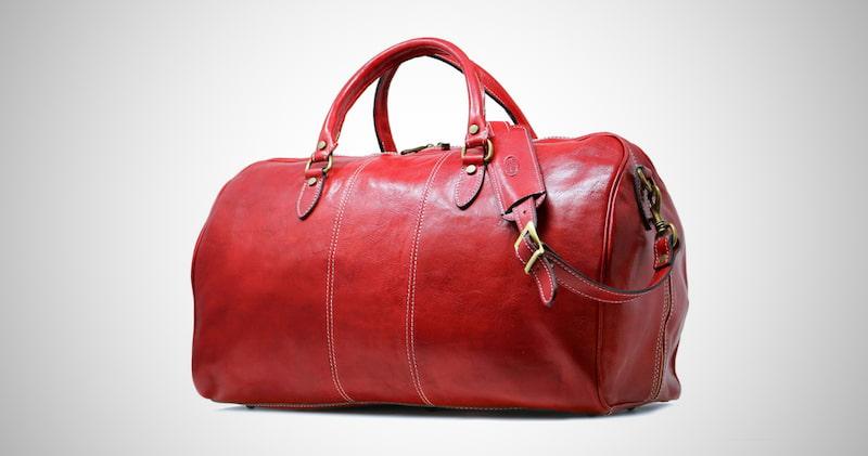 Floto Leather Weekender Travel Bag