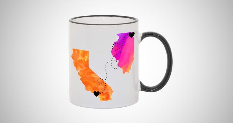Personalized Long Distance Coffee Mug
