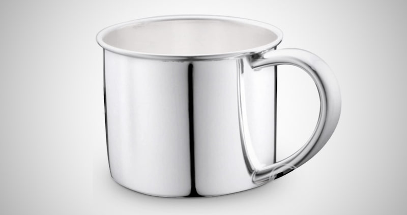 Silver Plain Baby Cup