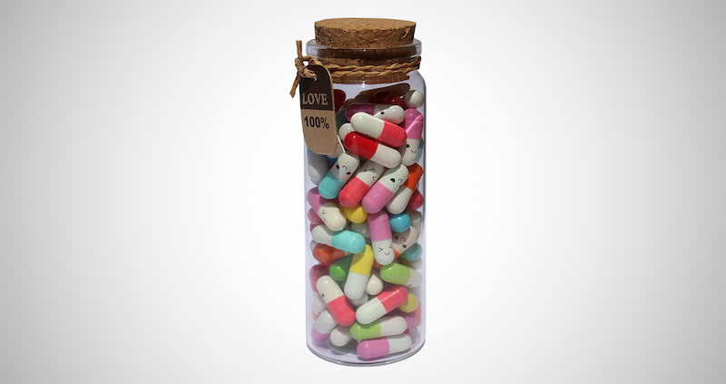 Capsule Letters Message in a Bottle