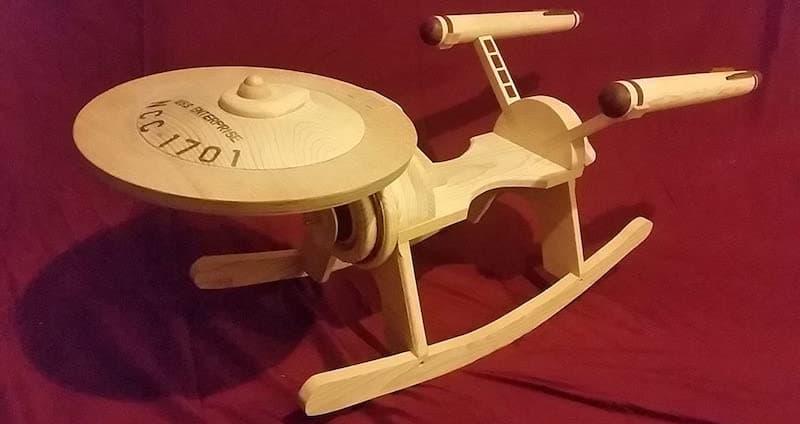 Wooden Star Trek Inspired Rocker
