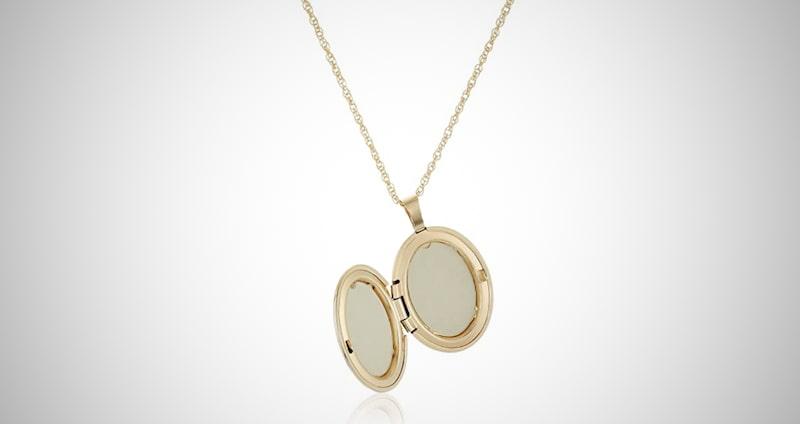 14k Gold-Filled Locket Necklace