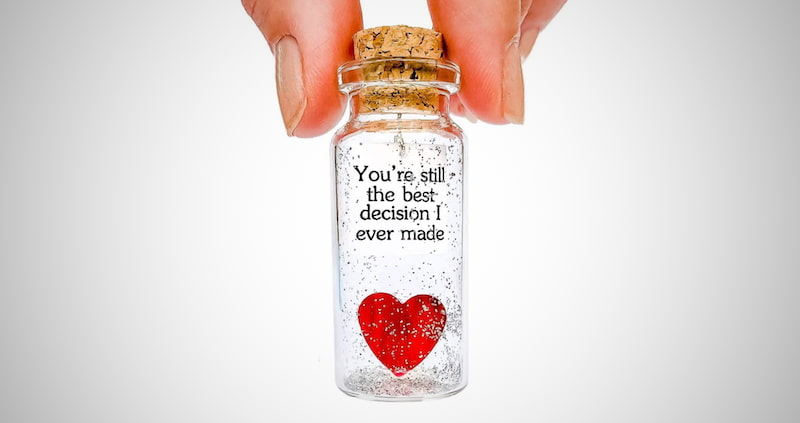 Heart and Message in a Bottle