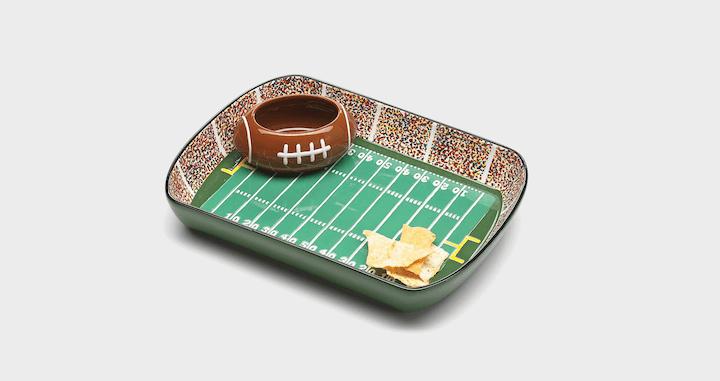 Football Stadium Chip and Dip Set