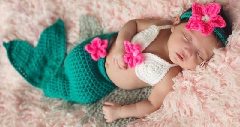 Newborn Baby Crochet Mermaid