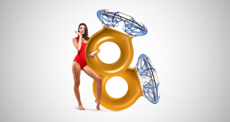 Inflatable Diamond Ring Pool Floats