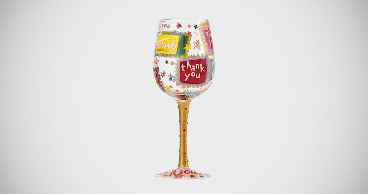 Lolita Thank you Wine Glass