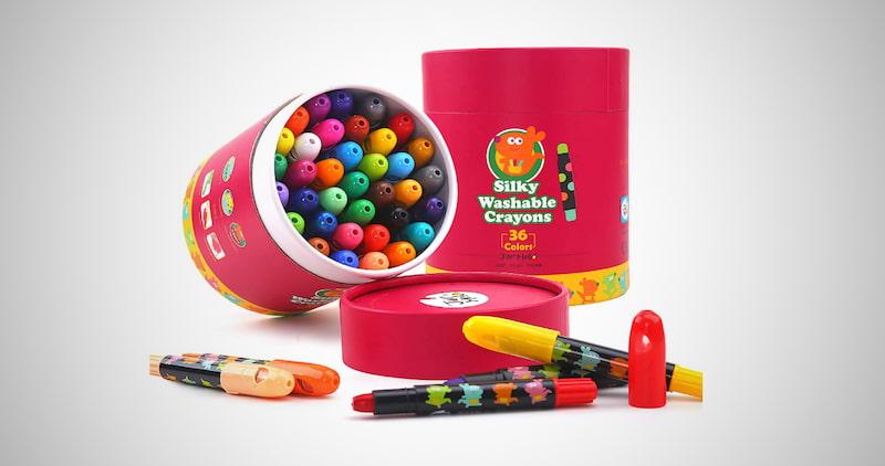 Jar Melo Washable Jumbo Crayons