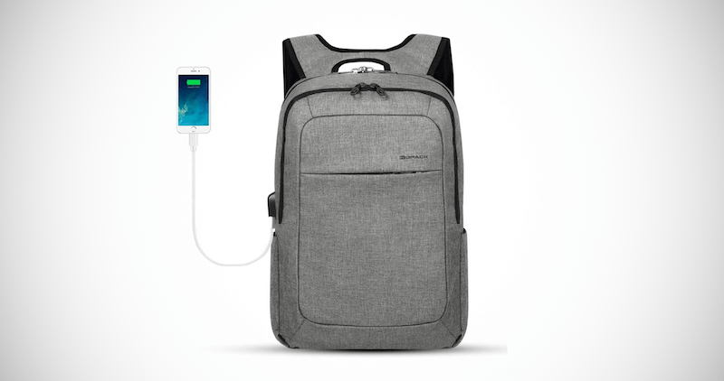 Kopack Anti-Theft Slim Backpack