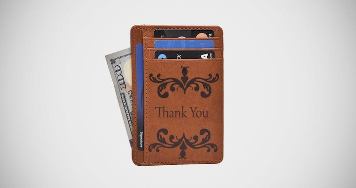 Thank You Minimalist Wallet