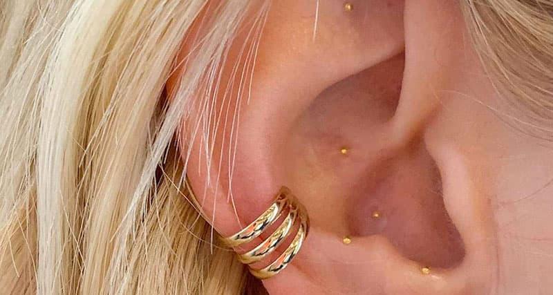 24k Gold Acupressure Ear Seeds