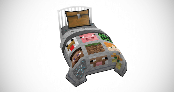 Minecraft Twin Quilt & Sham Set