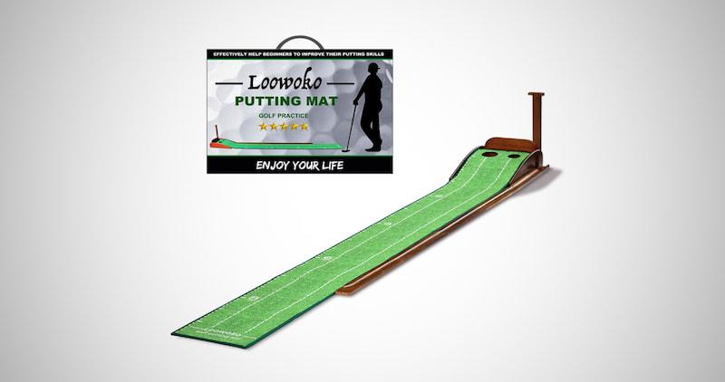 Loowoko Wood Golf Putting Equipment