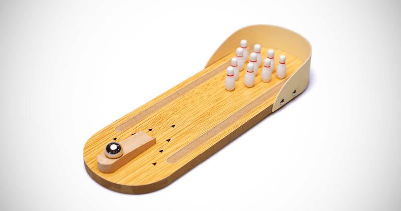Wooden Desktop Bowling Toy