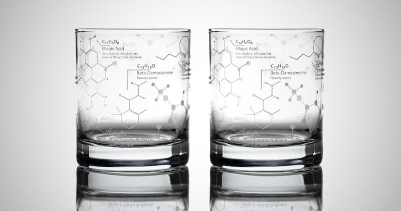 Chemistry Molecules Whiskey Glasses