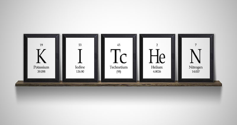 Kitchen Periodic Table Framed Wall Art