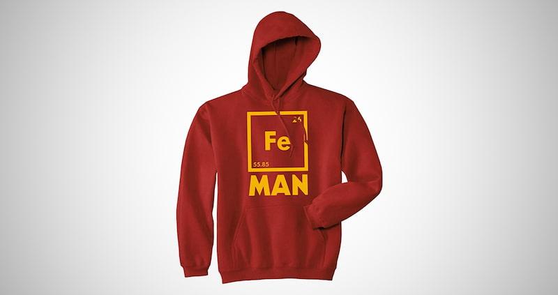 Nerdy Graphic Periodic Table Sweatshirt