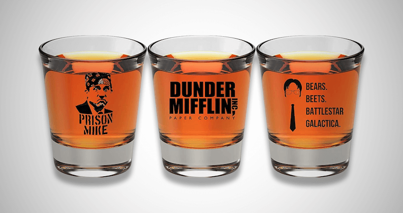 The Office Merchandise Shot Glass