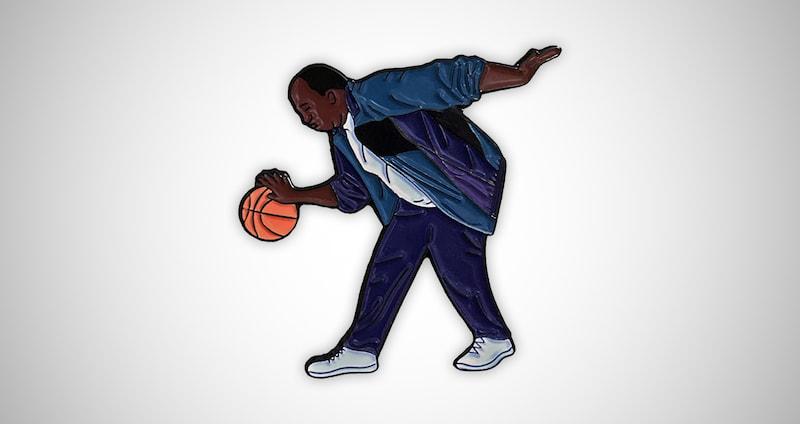 Stanley Hudson Basketball Enamel Pin