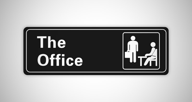 The Office Self-Adhesive Sign