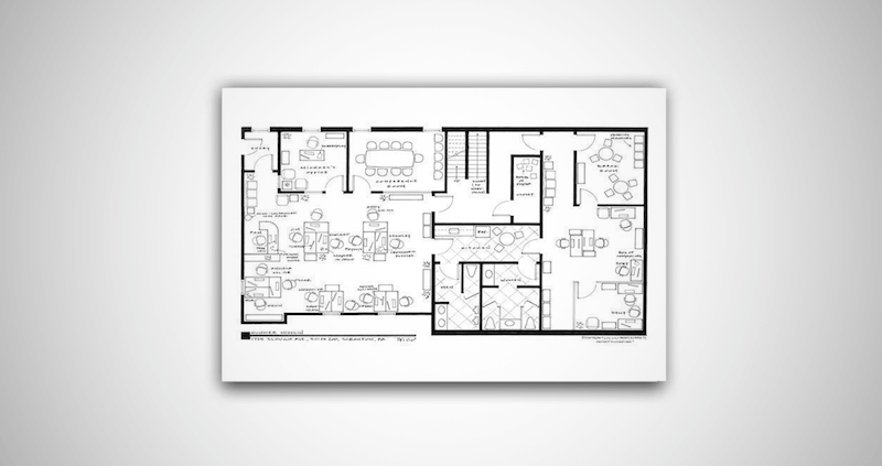 The Office Floor Plan Poster