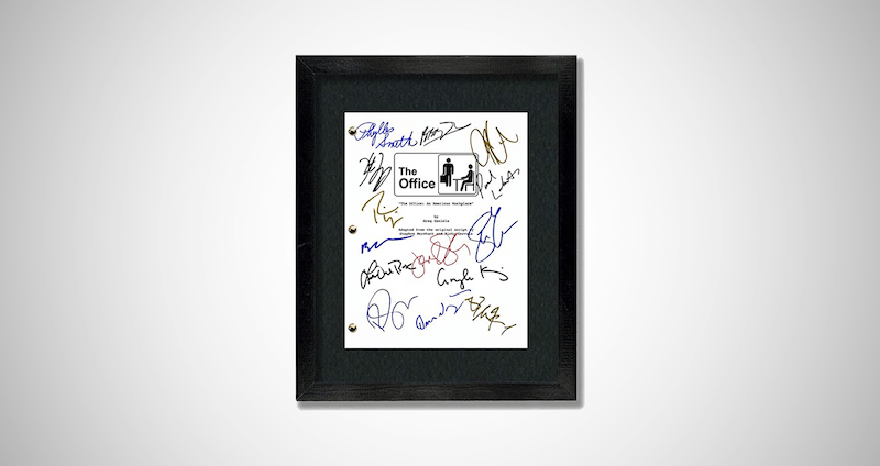 The Office TV Show Cast Signature Artwork
