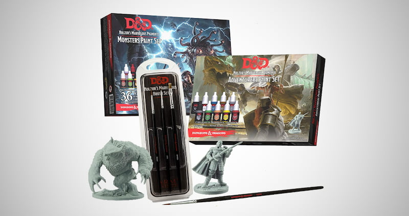 Dungeons & Dragons Miniature Painting Kit