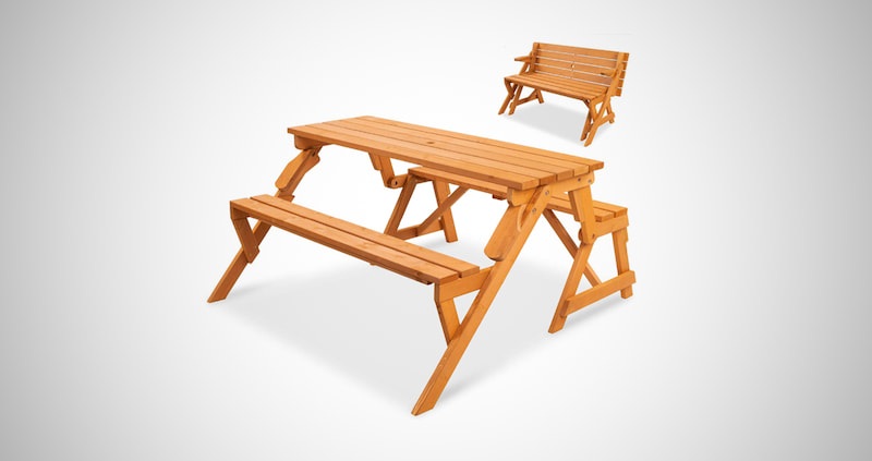 2-in-1 Interchangeable Picnic Table