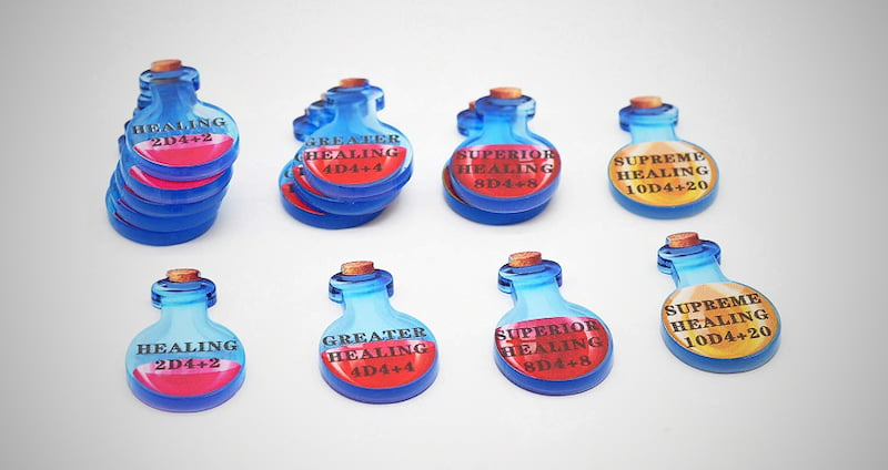 Healing Potion Tokens Set
